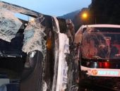 Bayram tatili ilk kaza Bolu'dan korkunç bilanço