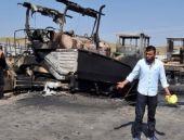 Teröristler Erzurum'da 8 aracı yaktı