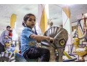 Suriyeli çocuklar için yeraltında yaptılar