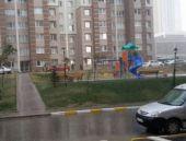 Ankara'da sağanak yağmur serinletti