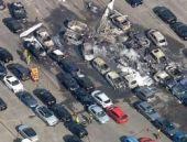 Otomobil pazarına uçak düştü: 4 ölü!