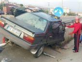Bolu'da feci kaza motor kabine girdi