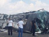 Başbakanlık makam otobüsü kaza yaptı