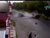 Korkuç trafik kazası kamerada