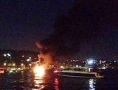 Boğaz'da dehşet anları! Teknede patlama!