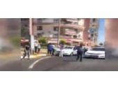 Polislere saldırı sonrası yaşananlar kamerada!