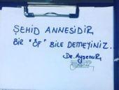 Doktor Ayşenur'dan şehit annesi için ağlatan not