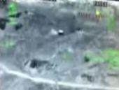Hakkari'de bomba yüklü aracın patlama anı