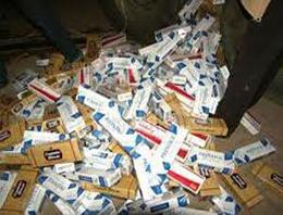 Çerçili köyü sınır bölgesinde yapılan operasyonda 3 bin paket kaçak sigara ele geçirildi