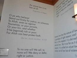 Harvard'ın duvarına Kur'an ayeti asıldı