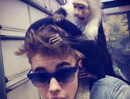 Justin Bieber maymunsuz kaldı