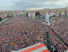 AK Parti mitinginde kaç kişi vardı?