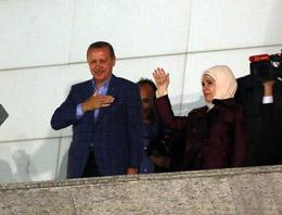 Cumhurba�kan� Erdo�an'�n balkon konu�mas� foto�raflar�