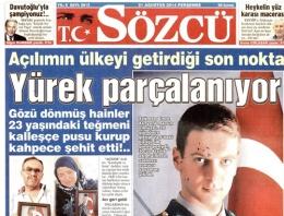 Sözcü gazetesi Atatürk'ü bakın kim sandı!