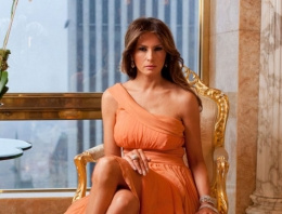 Donald Trump'ın eşi ve altın kaplama evi