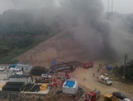 Hızlı tren inşaatında yangın
