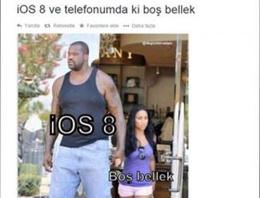 iOS 8, 5,7 GB boş alan isteyince.