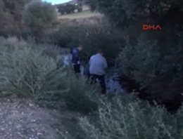 Sulama kanalında yarı çıplak ceset bulundu
