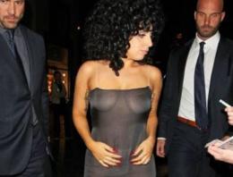 Lady Gaga olay oldu! Yine transparan