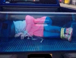 Tecavüz kamyonu görenleri şaşkına çevirdi!
