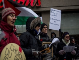 Kanada'da İsrail karşıtı protesto!