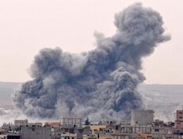Kobani son durum Yoğun hava saldırısı