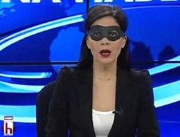 Halk TV spikerinden maskeli 17 Aralık protestosu!
