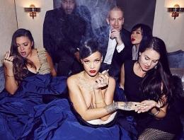Rihanna konser öncesi böyle eğlendi!