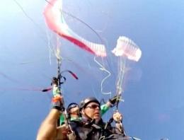 Paraşüt gökyüzünde ikiye ayrılınca...