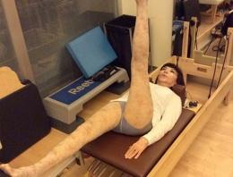 86 yaşında pilates keyfi