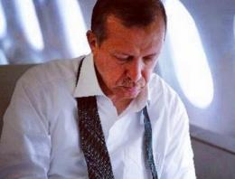 Erdoğan'ın uçağı havada 2 tur attı!