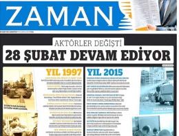 Zaman'dan AK Parti'yi kızdıracak manşet