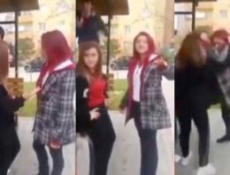 Kızlar kavga etti erkekler bahse tutuştu