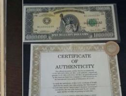 1 milyon dolarlık banknot yakalandı