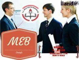 MEB onaylı sertfika programları!