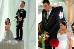 Kendisinden bir metre uzun biriyle evlendi