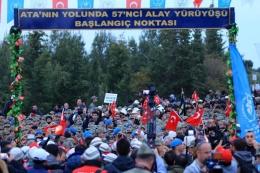 57'nci Alay'ı anma yürüyüşü gerçekleşti