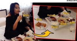 Bülent Ersoy'un kahvaltıda yediklerine bakın!