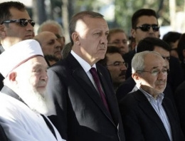 Cumhurbaşkanı Erdoğan cenazede!