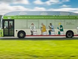 İnsan dışkısıyla çalışan otobüs