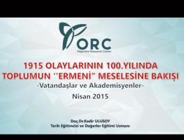 Seçimlere 39 gün kala ORC'den Ermeni anketi