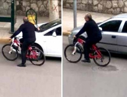 Bisikletli teftişi gizlice çektiler!
