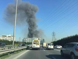 İstanbul'da korkutan yangın!