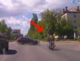 Kural ihlali yapan motosikletliye ne oldu?