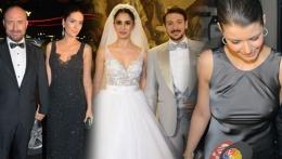 Beren Saat'in elbisesi düğüne damga vurdu!