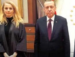 Tuğçe Kazaz Erdoğan'la Saray'da görüştü