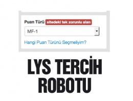 LYS tercih robotu - Puana göre girilen bölümler