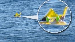 10 aylık bebek denizde böyle sürüklendi!