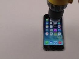 iPhone 6'yı matkapla delmeye kalkışınca...