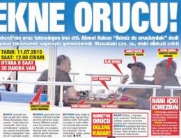 Ahmet Hakan'ın tekne orucu olay oldu